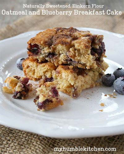 Oatmeal and Blueberry Breakfast Cake (Naturally Sweetened)
