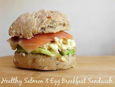 Salmon and Egg Breakfast Sandwich